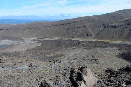 Tongariro Crossing, un pic de urcare adevarata