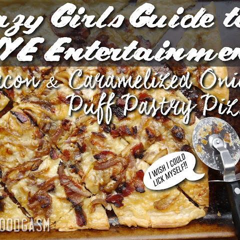 Easy Bacon and Caramelized Onion Puff Pastry Pizza #lazygirlnye