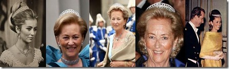 Queen Elisabeth's Diamond Bandeau Tiara - Up-close - Paola