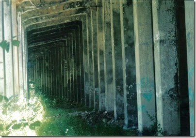 Inside of Concrete Snowshed on the Iron Goat Trail in 2000