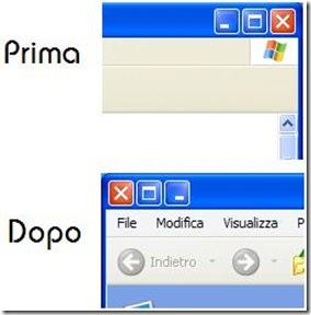 LeftSider pulsanti Chiudi, Ingrandisci, Riduci a icona visualizzati a sinistra invece che a destra