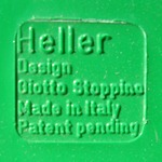 Stoppino record album/LP/storage rack for Heller, green imprint
