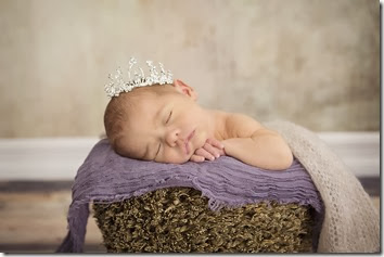 Newborn Photo - Princess Crown - Lindsey Dutra Photography