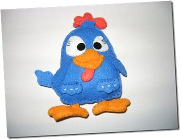 galinha pintadinha feltro
