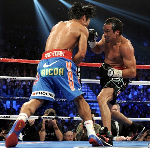 Marquez's foot stopper technique on Pacquiao?