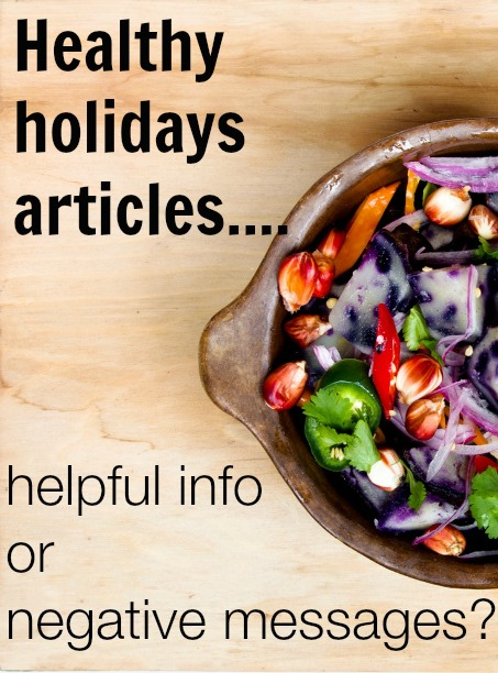 Are healthy holiday articles actually helping