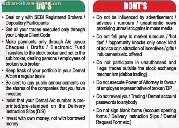 Calcutta Stock Exchange Do's & Don'ts for Traders