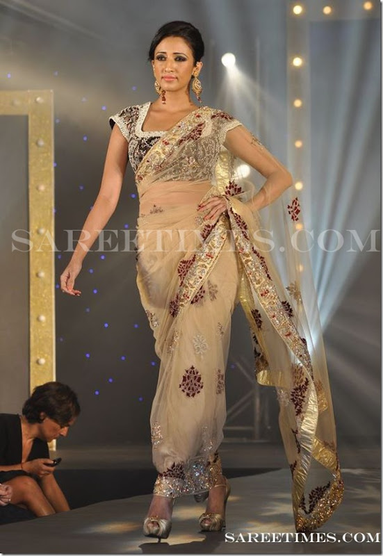 Gold_Shimmer_Saree_Gitanjali_Fashion_Show