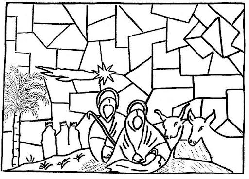 Dibujos para colorear de vidrieras - Imagui