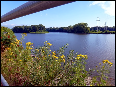 03e - Mohawk River (Erie Canal) Bike Trail heading SE - enjoying the views while we waited for the trail to be cleared
