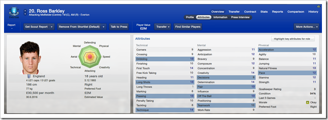 Ross Barkley_ Overview Attributes