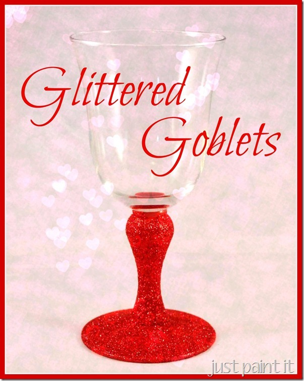 How To Glitter Wine Goblets