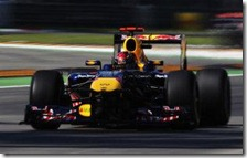 Vettel nelle prove libere del gran premio d'Italia 2011