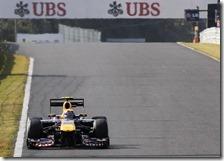 Webber nelle prove libere del gran premio del Giappone 2011