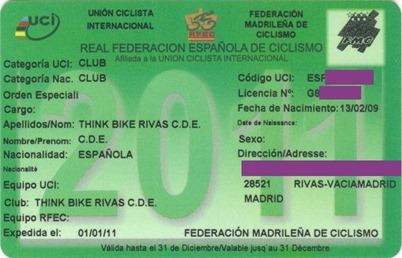 Licencia federativa THINK BIKE  2011 TACH