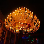 beautiful chandelier at Joe's Apartment in Vancouver, British Columbia, Canada