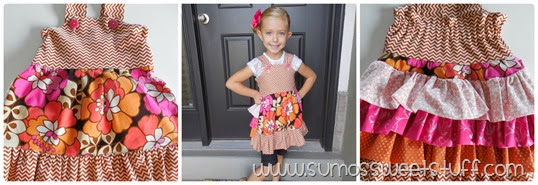 Little Girl Fashion - Ruffled Bustle Top by www.SumosSweetStuff.com