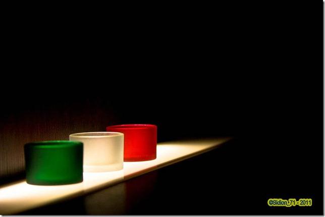 Aurelio Andriani bicchieri tricolore