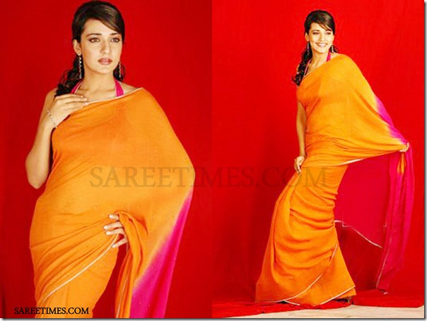 Neha_Julka_Orange_Saree