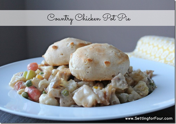 Country Chicken Pot Pie Recipe from Setting for Four #recipe #CavendishFromTheFarm