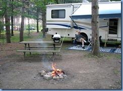 5100 Laurel Creek Conservation Area  - Bill enjoying the fire