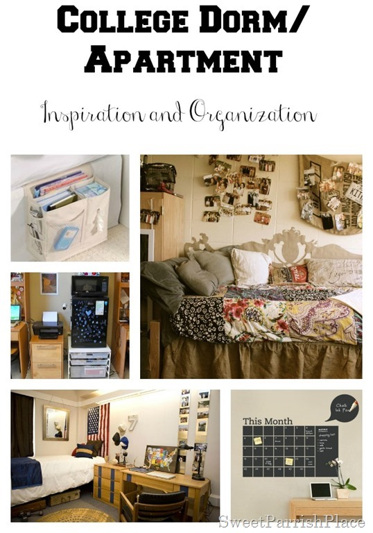 place college dorm room apartment inspiration and organization
