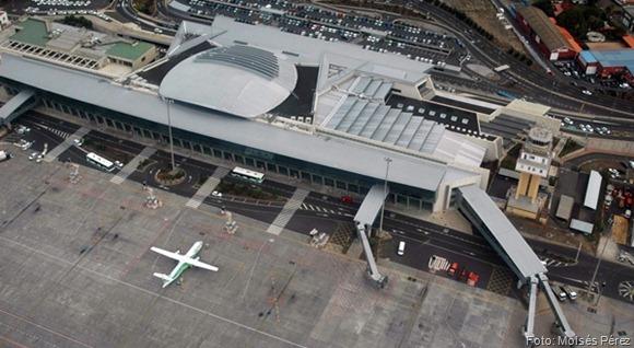 Vista area del aeropuerto Tenerife Norte - Foto Moiss Prez