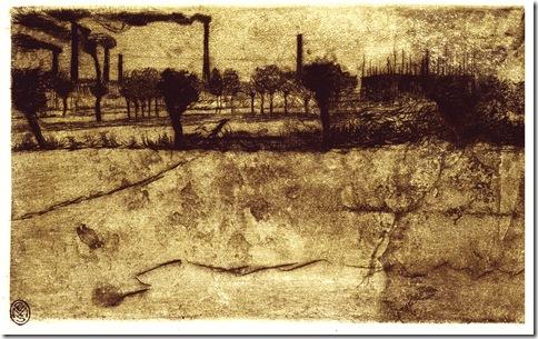 Umberto Boccioni_Periferia,1908 acquaforte e puntasecca