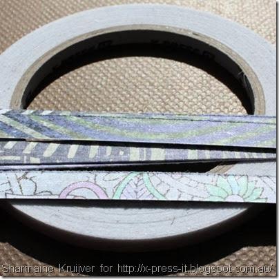 Close Up FabScraps Retro Twist Pattern Paper