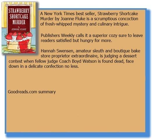 Goodreads summary box for Strawberry Shortcake Murder