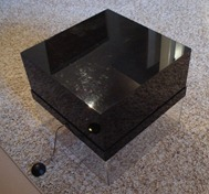 acrylic infinity lamp style coffee table, off