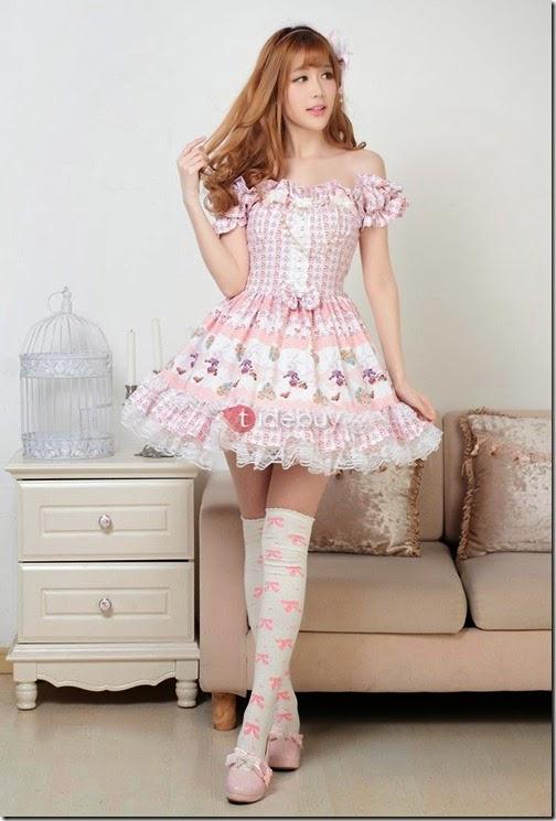 Tidebuy pink lolita dress