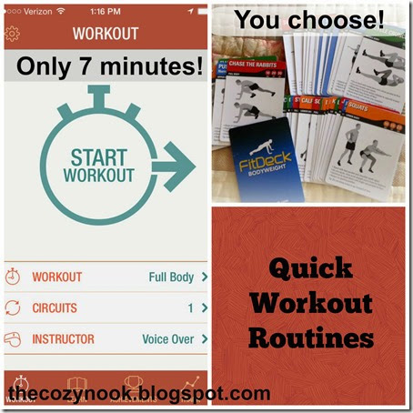 Quick Workout Routines - The Cozy Nook
