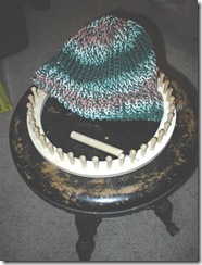 My first rake knitting hat