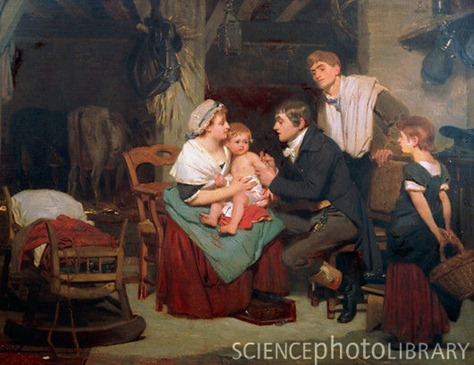 Smallpox vaccination in 19th Century