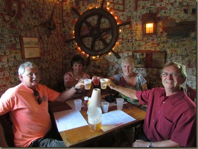 Al, Karen Margie and Roger at No Name Pub, Big Pine Key, Florida