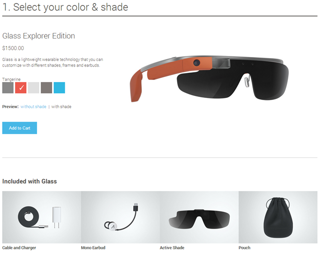 Google Glass Purchase Info