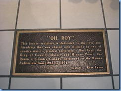 9485 Nashville, Tennessee - Discover Nashville Tour - Ryman Auditorium - Roy Acuff and Minnie Pearl