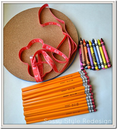 back to school wreath supplies