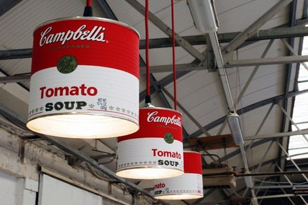 tomato-soup campbell's-luminária