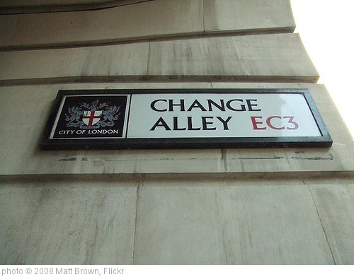'Change Allley sign' photo (c) 2008, Matt Brown - license: http://creativecommons.org/licenses/by/2.0/