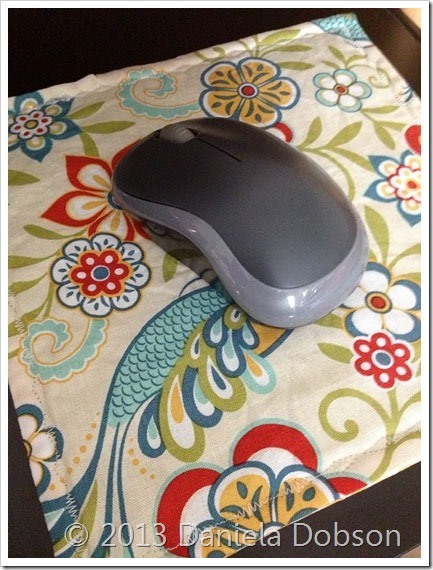 Finished mouse pad Daniela Dobson