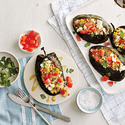 Summery Stuffed Poblanos