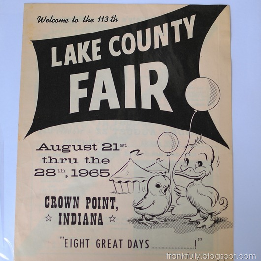 a cool old brochure from the Lake County Fair