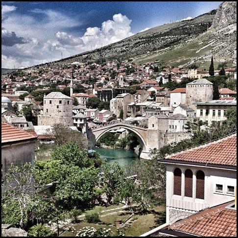 Stari Most from the balcony of Villa Anri