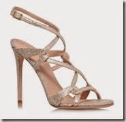 Kurt Geiger Gold High Heeled Sandal