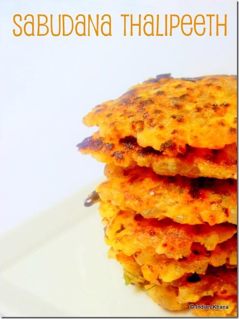 Sabudana Thalipeeth recipe Sago Pancake