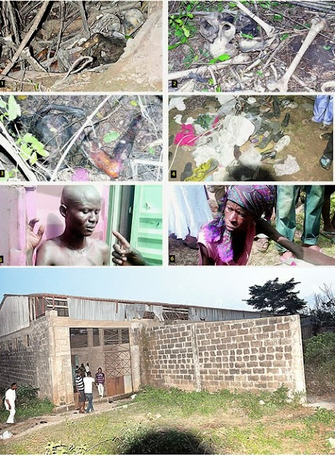 Photos Of Victims, Bodies And Skulls From Rituals Factory Discovered In Ibadan Yesterday(Viewer Discretion)