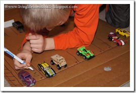 Spelling Garages - A fun way to take a spelling test