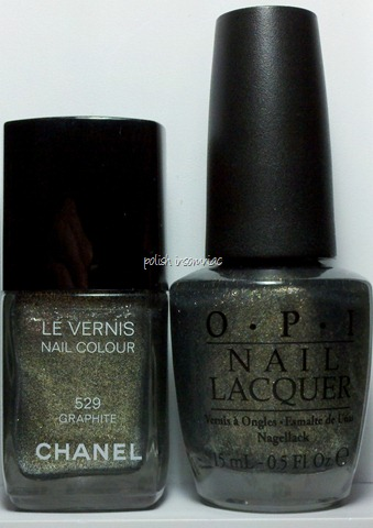 Chanel Graphite vs OPI Number One Nemesis